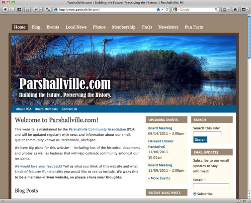 Parshallville.com goes live!